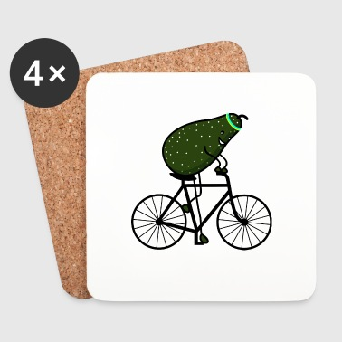 sporty avocado - Coasters (set of 4)