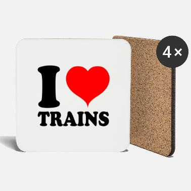 Engine Railroad trains pensioner Grandpa - Love I love - Coasters