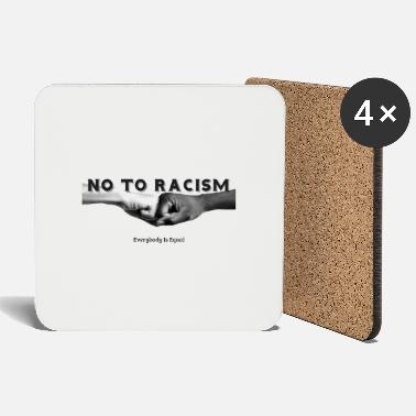 Racism No To Racism - Coasters