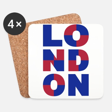 Indie London - Dessous de verre (lot de 4)