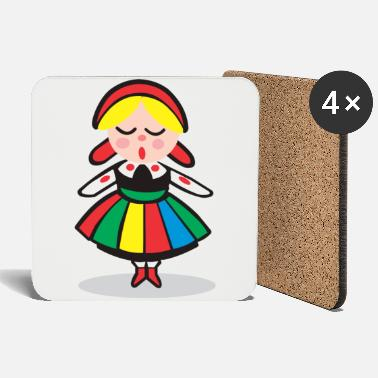 Costume Girl in costume - Coasters