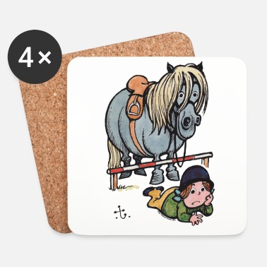 Officialbrands Thelwell Funny Showjumping Gone Wrong - Coasters (set of 4)