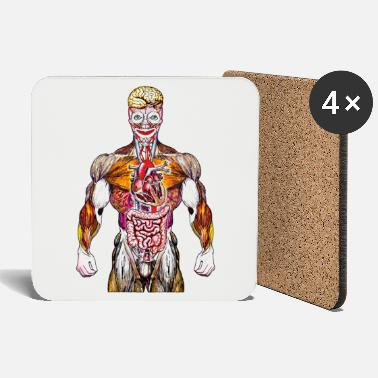 Anabolic Steroids BRAIN CLOWN STEROID - Coasters