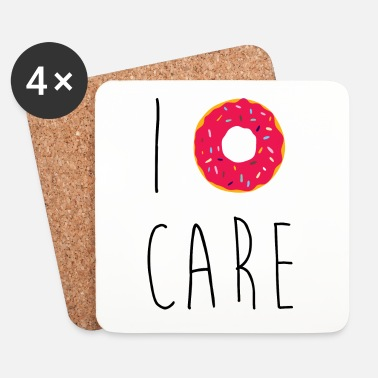 Carré I Donut Care Funny Quote - Dessous de verre (lot de 4)