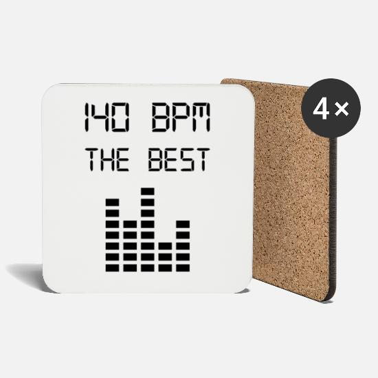 Music Mugs & Drinkware - 140 BPM THE BEST - Coasters white