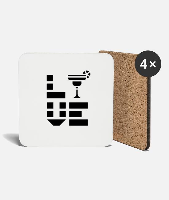 Wine Mugs & Drinkware - Drinking Coctails - Coasters white