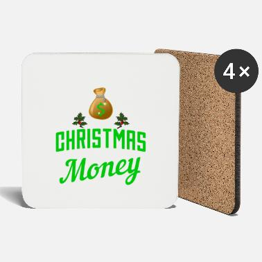 Christmassy Christmas Christmassy money bag gift - Coasters