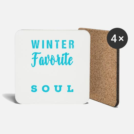 Snowman Mugs & Drinkware - Christmas Christmassy winter soul gift - Coasters white