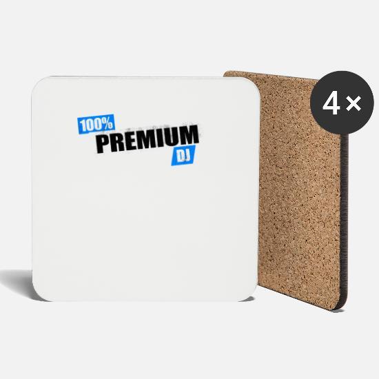 100% Premium DJ House Trance Headphones Music Coasters (set of 4) - white