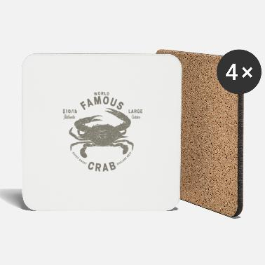 Crab Crab Fish Cooking Kitchen Fish Sea Shirt - Coasters