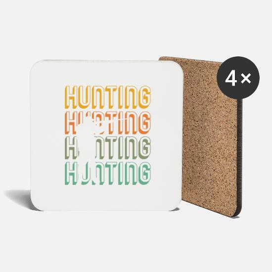 Gift Idea Mugs & Drinkware - hunting retro - Coasters white