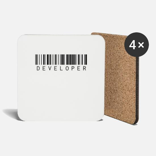 Program Mugs & Drinkware - Developer programmer - Coasters white
