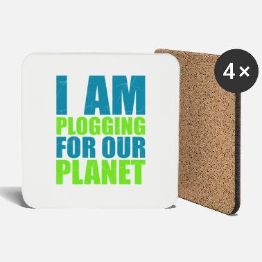 Plogger I am a plogger for the earth gift - Coasters