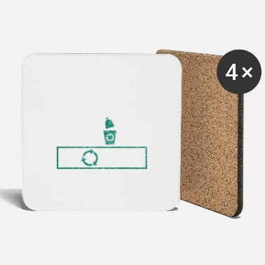 Plogger Plogging outfit gift Plogger garbage - Coasters