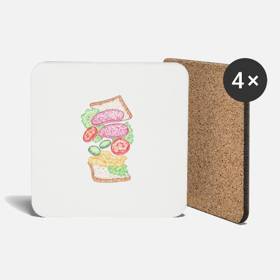 Vegan Mugs & Drinkware - Vegan toast gift idea - Coasters white