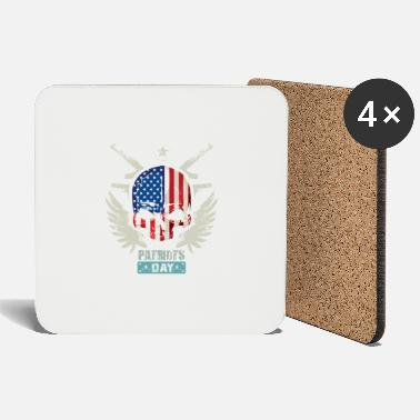 Patriotic Patriots USA Patriots Day - Coasters
