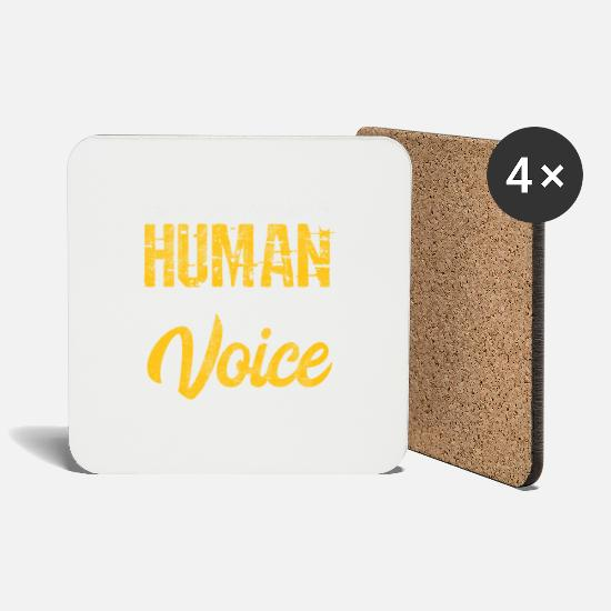 Voice Mugs & Drinkware - Voice Personal Manager Personal Gift - Coasters white