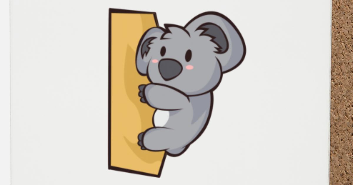 Chibi Comic Koala Bear Kawaii Cute Gift Coasters Spreadshirt