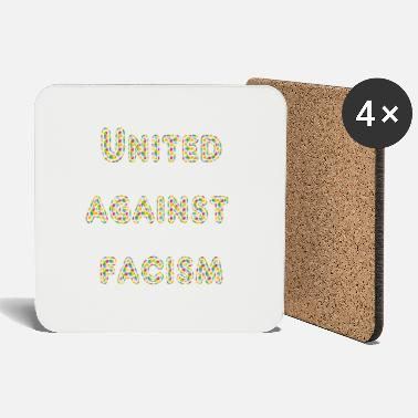 Against united against facism colorful - Coasters