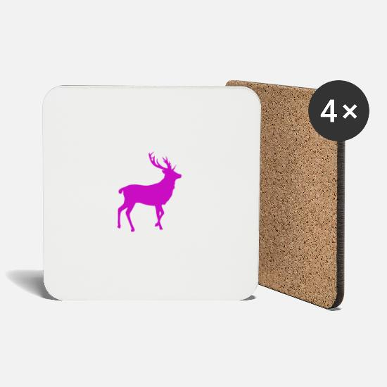 Stag Mugs & Drinkware - Stag party deer - Coasters white
