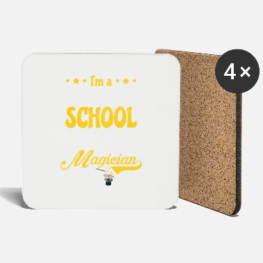 Back To School Teacher Magician Elementary School Gift - Coasters