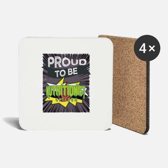Birthday Mugs & Drinkware - To be a proud nutritional citizen - Coasters white
