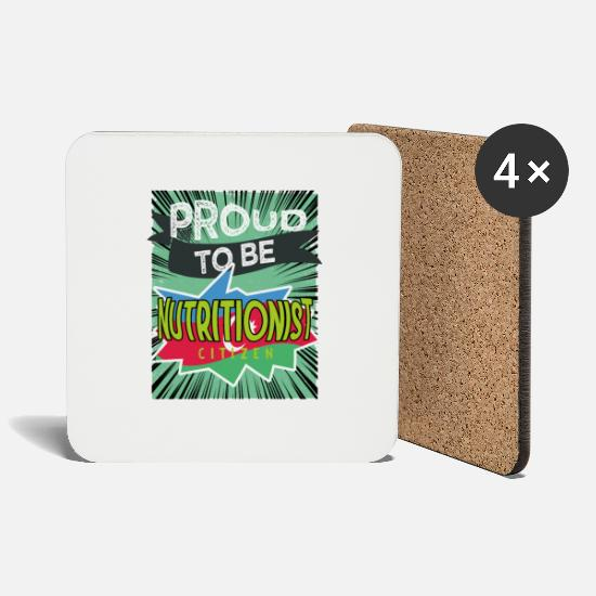 Citizen Mugs & Drinkware - To be a proud nutritional citizen - Coasters white