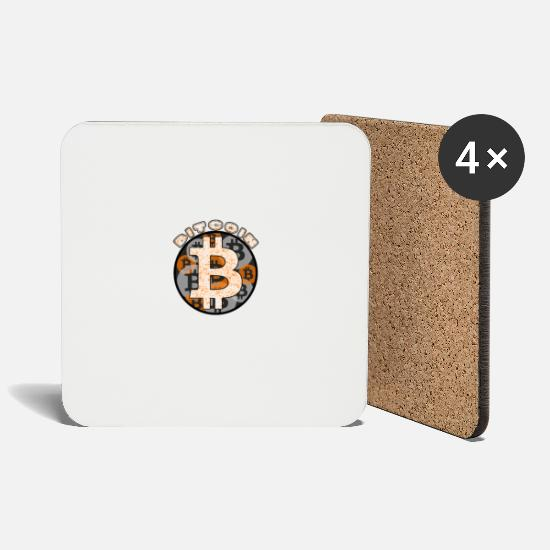Trade Mugs & Drinkware - bitcoin - Coasters white