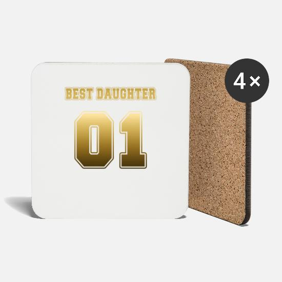 Gold Mugs & Drinkware - Best Daughter 01 - Coasters white