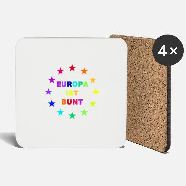 Europe Europe is colorful with stars - Coasters