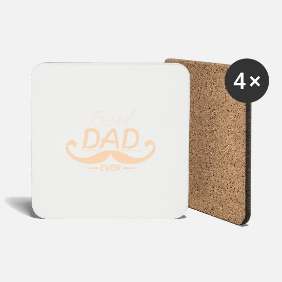 Gift Idea Mugs & Drinkware - Best Dad Ever, Gift, Gift Idea - Coasters white