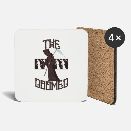 Horror Mugs & Drinkware - The Doomed - Grim Reaper - Coasters white