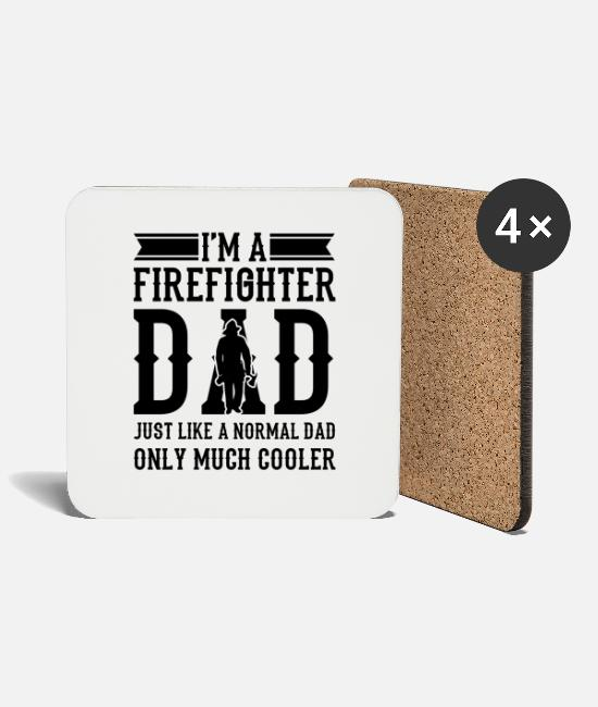 Fire Fighter Mugs & Drinkware - Volunteer firefighter firefighter - Coasters white