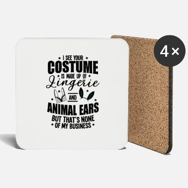 Jack Underwear Halloween Sexy Ears Underwear Costume Gifts - Coasters