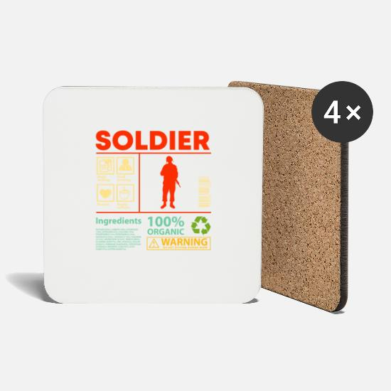 Career Mugs & Drinkware - Soldier Product description Tank driver gift - Coasters white