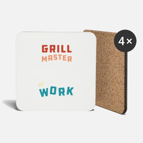 Bbq Season Mugs & Drinkware - Barbeque grill meat grill master gift - Coasters white