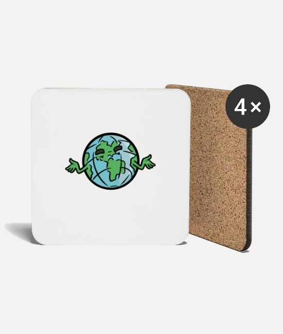Earth Mugs & Drinkware - No Planet B No Planet B - Coasters white