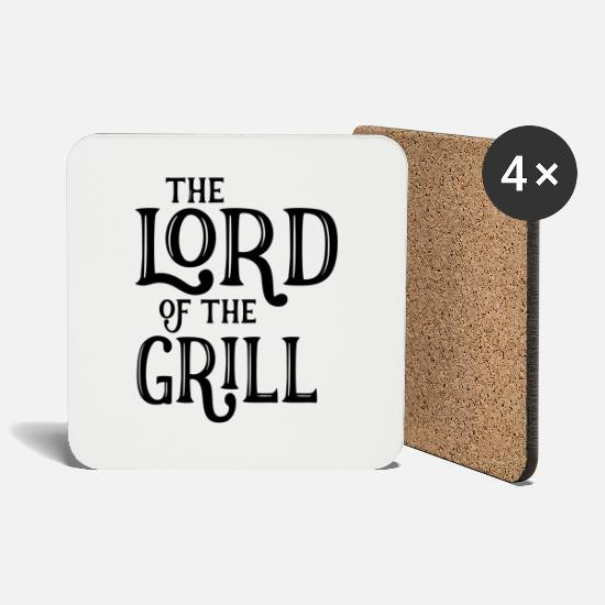 Camping Mugs & Drinkware - Lord Of The Grill - Coasters white