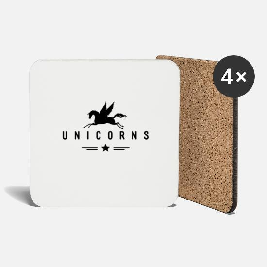 Unicorn Mugs & Drinkware - Unicorn Unicorn - Coasters white