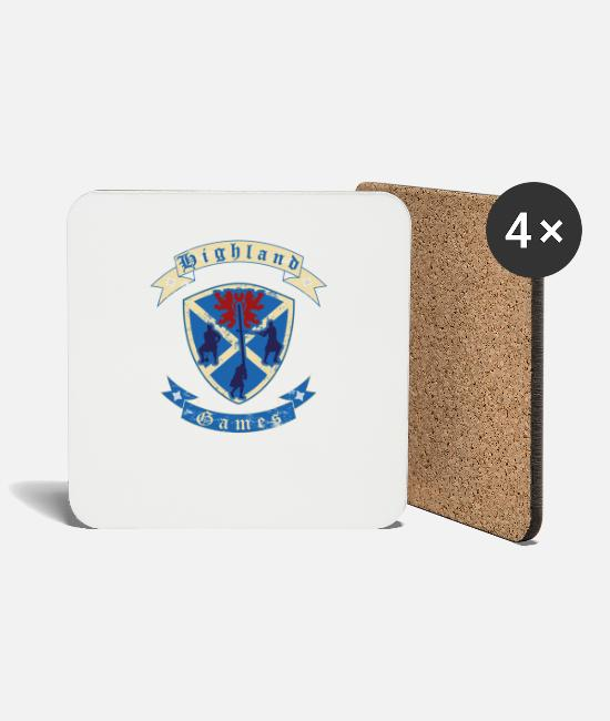 Bagpipes Mugs & Drinkware - Highland Games disciplines for real Highlanders - Coasters white