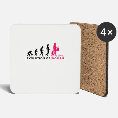 High Heel Evolution woman shopping shoes high heels shopping addiction - Coasters