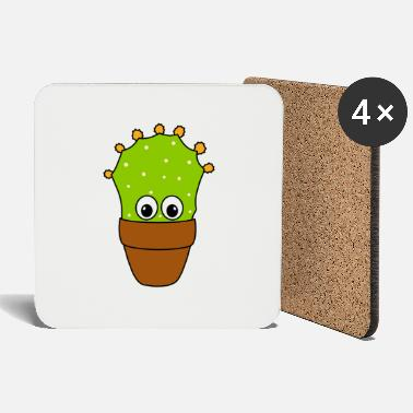 Pear Prickly Pear Cactus With Cute Buds - Coasters