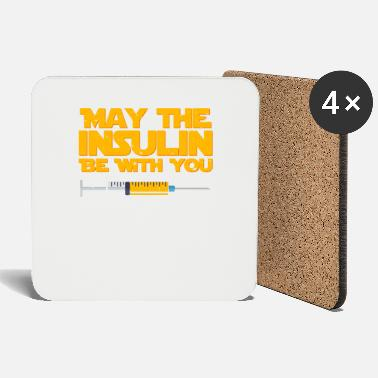 Beta May The Insulin Be With You Diabetes T-Shirt - Coasters