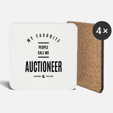 Auctions Auctioneer Work Job Title Gift - Coasters