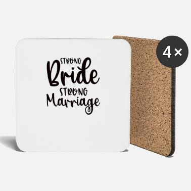 Wedding Couple Strong Bride Strong Marriage - Coasters