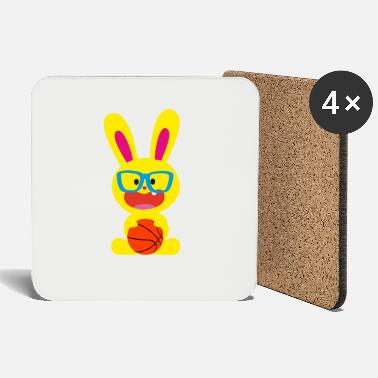Bunny Tooth A tooth bunny and basketball - Coasters