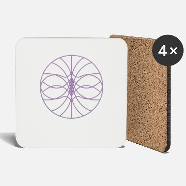 Triangle Circle pattern art - Coasters