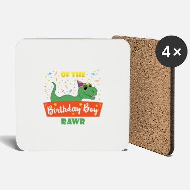 Brother Of Birthday Boy Birthday Boy Brother Dinosaur Funny Dinosaurs Brot - Coasters
