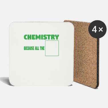 Geekyscienceawkward I tell bad chemistry jokes - nerdy and geeky gift - Coasters