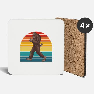 Mythical Creature Yeti Bigfoot Snowman Mythical Creature - Coasters